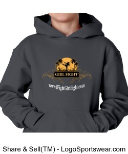 YOUTH - Charcoal Girl Fight hoodie Design Zoom