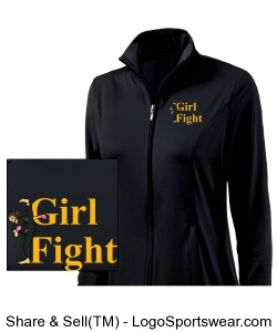 Girl Fight Athletic Jacket Design Zoom