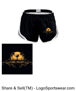 Girl Fight Soffe shorts Design Zoom
