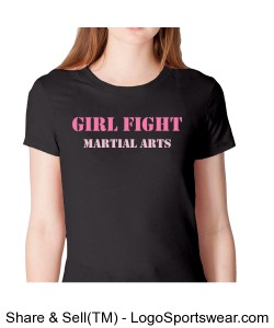 Black Girl Fight Fine Jersey Short Sleeve Ladies American Apparel Tee Design Zoom