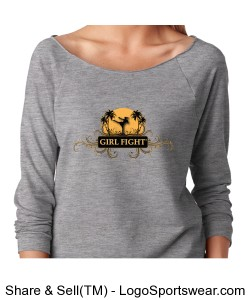 Girl Fight Ladies French Terry Raglan Design Zoom