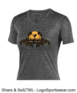 Girl Fight Dryfit Ladies workout tee Design Zoom