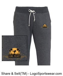 Black Girl Fight joggers Design Zoom